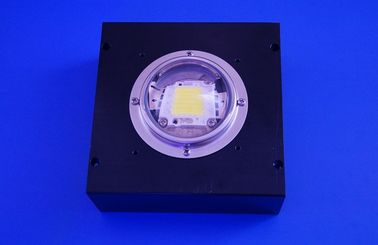 China 100w Led Light 78mm Led Glass Lens , 60 degree Led Lens with Square Heat Sink supplier