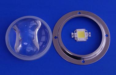 China Glass led light Lens / LED Street light Lens with silicon gasket For 30Watt Leds supplier