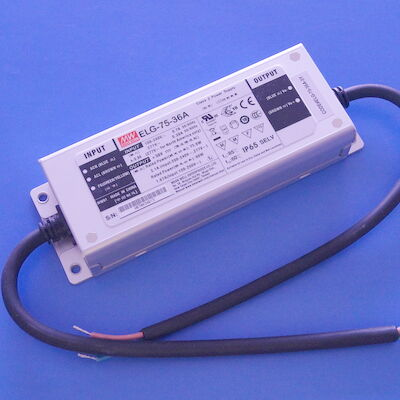 ELG-75-36A IP65 36V 1.67A 60W Led Light Driver