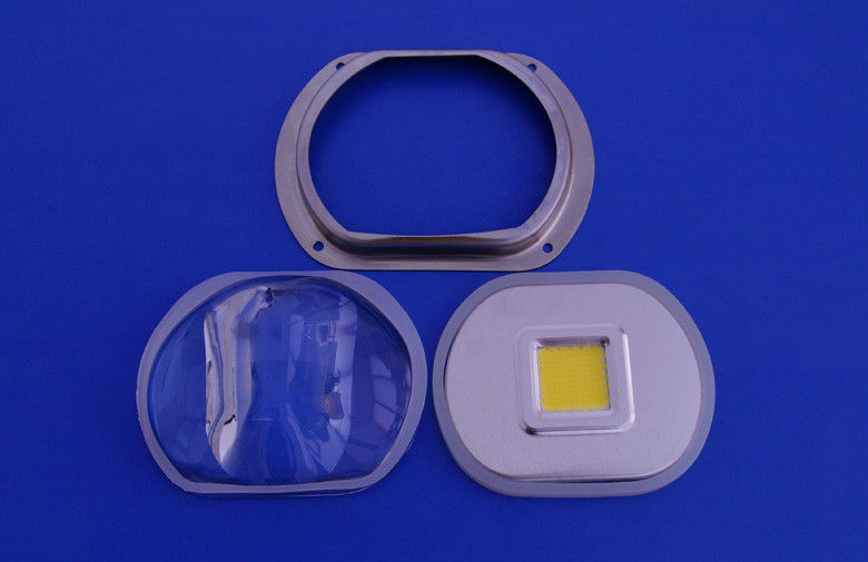 100W Bridgelux Led Glass Lens , Led street light optical glass lens