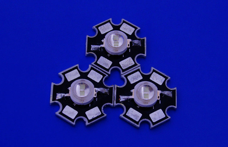 Single 1 watt / 1w High Power Led Light Emitting Diode 520nm With Star PCB