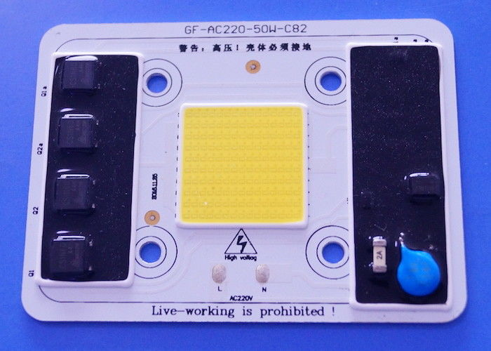 AC220V 50W Driverless High Power COB LED 5000-5500LM White Color SGS Approval