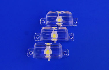1w 3w 90 X 45 Degree High Power Led Optical Lenses / Lens With PMMA Or PC