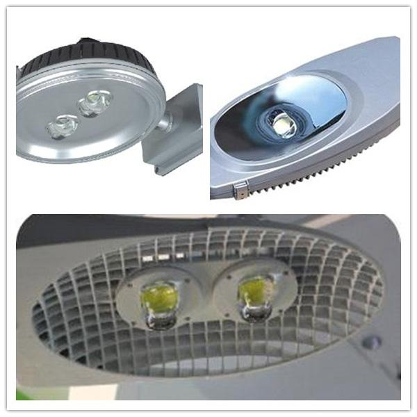 50W High Power COB Glass LED Street Light Lens 10W-100W LEDs With Metal Holder