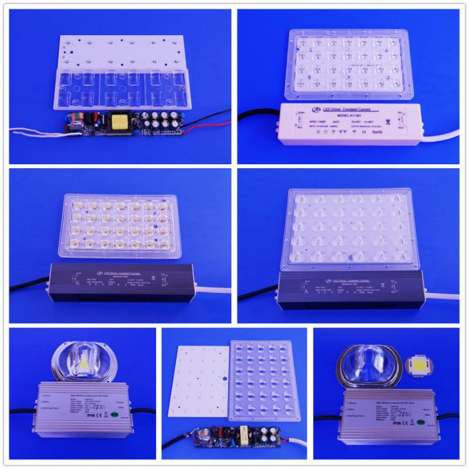 Outdoor Water proof Led Reflector Lens Array PCB Solder 60w Led