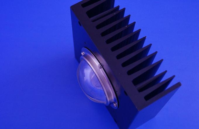 100w Led Light 78mm Led Glass Lens , 60 degree Led Lens with Square Heat Sink