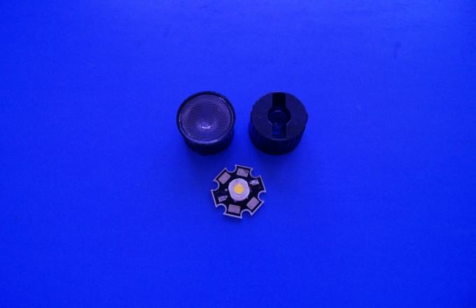 1W Optical Led Spotlight Lens PMMA Led Lens With Small Bead Surface