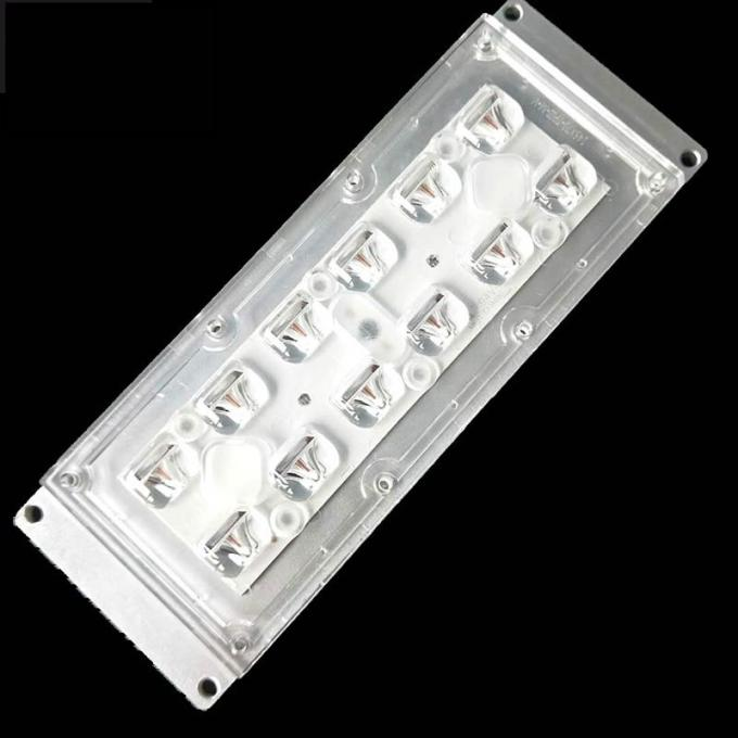 12 Pieces 3535 SMD LED Street Light Lens Module Optical Grade PC 91% Tranmittance