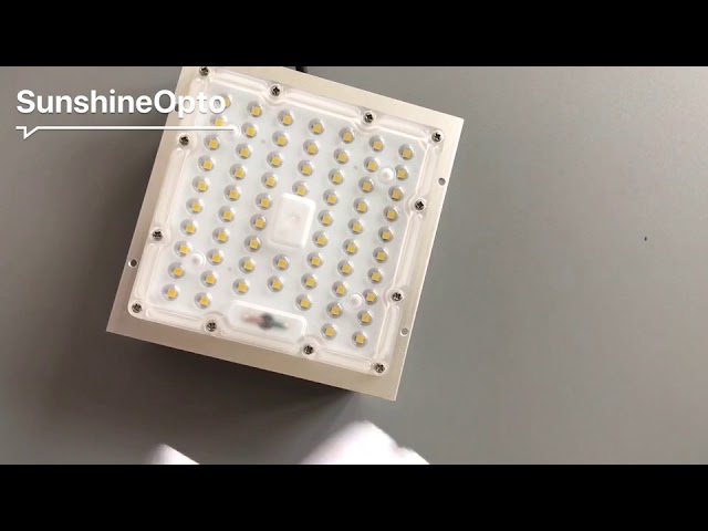 50W Square LED Urban Lights Parts 80X150 Degree Lens With PH3030 SMD LED 160LM/W